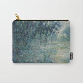 Morning on the Seine, Claude Monet Carry-All Pouch