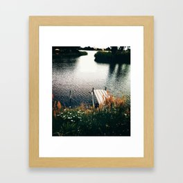 Flower Lake Framed Art Print