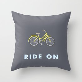 Ride On Throw Pillow