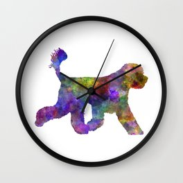 Portuguese Water Dog in watercolor Wall Clock