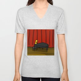 Ducky Pianist | Veronica Nagorny Unisex V-Neck