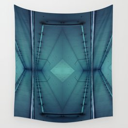 Neon Pipe Concrete Wall Tapestry