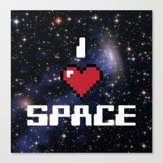 I Heart Space Retro Galaxy Canvas Print