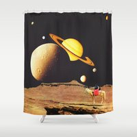 western Shower Curtains featuring Western Space by Mariano Peccinetti