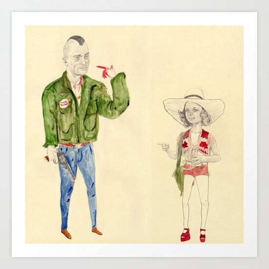 Travis Bickle and Iris Art Print