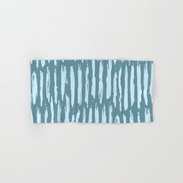 Vertical Dash Turquoise on Teal Blue Hand & Bath Towel