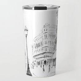 Sketch of a Street in Paris Travel Mug