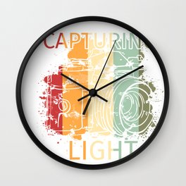 Retro Vintage Photography product Gift - Capturing Light Wall Clock