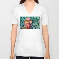 trip V-neck T-shirts featuring Bad Trip by Jared Yamahata