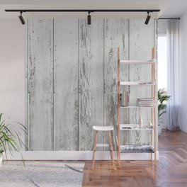 Wood Slatted plank fence background Wall Mural