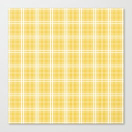 Spring 2017 Designer Color Primrose Yellow Tartan Plaid Check Canvas Print