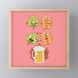 Funny Beer Fusion Bachelor Beer Pong Drinking Gift Framed Mini Art Print