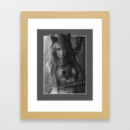 Neko Calixto - samurai girl Framed Art Print