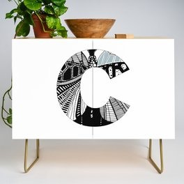 The letter C Credenza