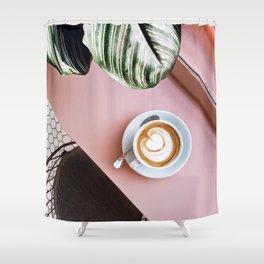 pink latte Shower Curtain