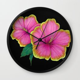 hibiscus flowers Wall Clock