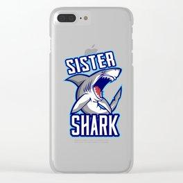 Sister Shark Clear iPhone Case
