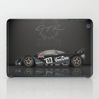 f1 iPad Cases featuring 1995 Le Mans Winning McLaren F1 GTR #01R by vsixdesign
