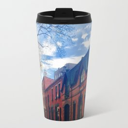 STOP For Brooklyn Heights Brownstone Red Brick Love Travel Mug