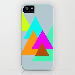 Triangles - neon color scheme series no. 2 iPhone Case