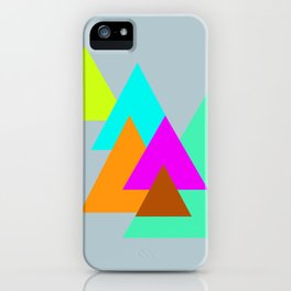 Triangles - neon color scheme series no. 2 iPhone Case