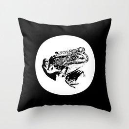black frog IV Throw Pillow