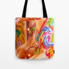 Horse on Victorian Carousel. Tote Bag