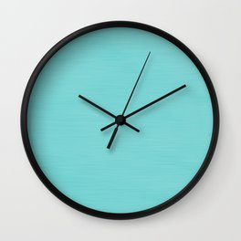Hand Painted Tiffany Aqua Blue Wall Clock