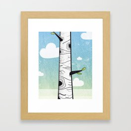 White Birch Framed Art Print