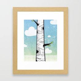 White Birch Framed Art Print