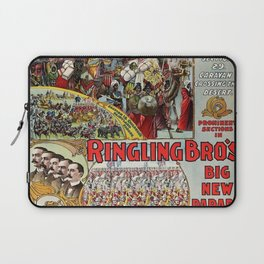 1899 Ringling Brothers Big New Parade Vintage Circus Poster Laptop Sleeve