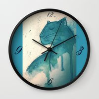 panther Wall Clocks featuring Panther by elisacalderoni92