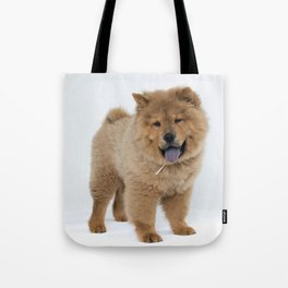 Chow Chow Puppy Tote Bag