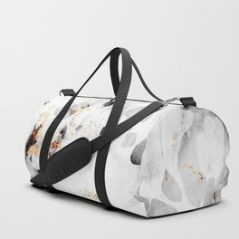 leaf marble Duffle Bag