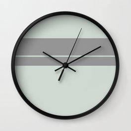 Grey Green with Grey Stripe Wall Clock