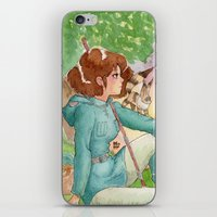 nausicaa iPhone & iPod Skins featuring Nausicaa of the Valley of the wind by Adriana Rodriguez Art