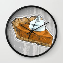 Pumpkin Pie Wall Clock