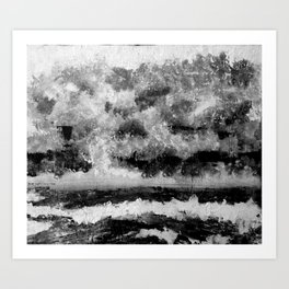 Loneliness (Calme et solitude) Art Print