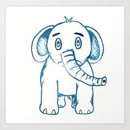 Little Elephant Art Print