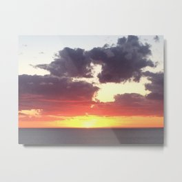 Glorious sunset in Adelaide, South Australia, Moana sandy beach Metal Print