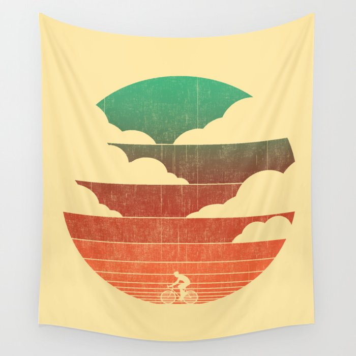 Go West (cycling edition) Wall Tapestry