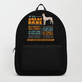 Great Dane Dog Puppy Gift for Dog Lovers & Owners Backpack