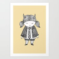 Art Print featuring AC/DC fangirl by Pizublic Illustration