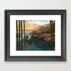 In his Boat Framed Art Print