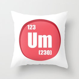 The element of confusion To chemistry Throw Pillow