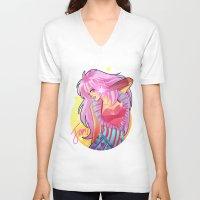 jem V-neck T-shirts featuring Jem by HanieMohd