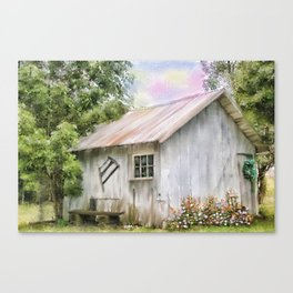 The Flowering Shed Canvas Print
