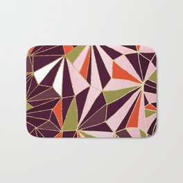 New Art Deco Geometric Pattern - Burgundi and Pink #deco #buyart Bath Mat