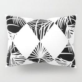 Tropical jungle silhouette nature leaf Pillow Sham