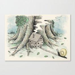 'A Visitor' (Colour) Canvas Print